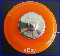 1970s Murano Vintage table lamp orange color