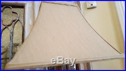 1 of PAIR New Vintage French Shabby Chic Table Bedside Sofa Lamp Base GOLD Shade