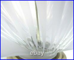 27 Vintage Glass Clam Shell Table Lamp Clear Frosted Beach House Home Decor