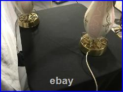 (2) Vintage Mid Century Modern Retro Atomic 50's Table Lamp 60's Lamps