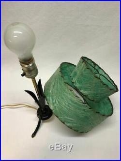 50's Vtg Atomic Tri Pod Mid-Century Weinberg RETRO Deco Fiberglass shade Lamp