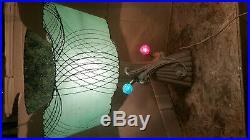50s MCM Leslie China FIBERGLASS SHADE Table LAMP Atomic Age Abstract Retro VTG