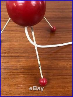 50s rare original atomic space age tripod table lamp vintage mid century