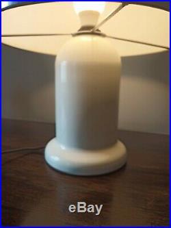 60/70 Vintage/Retro Guzzine style Mushroom Table/Hall Lamp White