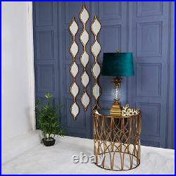 71cm Gold & Clear Glass Pineapple Shaped Table Lamp with Teal Velvet Drum Shade