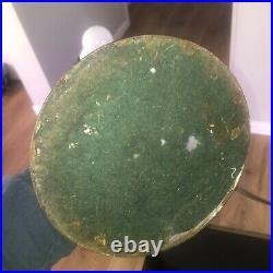 Antique 8 Panel Slag Glass Lamp