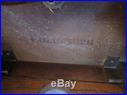 Antique Barley Twist Ethan Allen Oak Candle stand Floor Lamp Table 54 tall Vtg