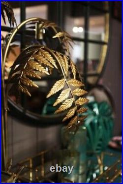 Antique Gold Palm Leaf Table Lamp