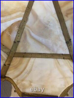 Antique Miller SLAG GLASS Table Lamp /slightly Damaged/