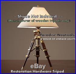 Antique Restoration Hardware Side / End / Table Lamp Vintage Wooden Furniture