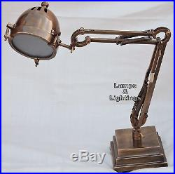Antique Side Table /Hall / Task Lamp Vintage Industrial Nautical Desk Home Decor