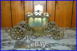 Antique Vintage CORONATION CARRIAGE LAMP with Stained Slag Glass (Art Deco Era)