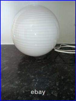 Beautiful spiral round glass lamp, Murano style, retro, vintage, handmade, sphere