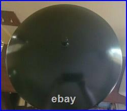 Black MCM Vintage Space Age UFO Fying Saucer Atomic Metal Lamp Mid Century