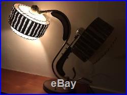 CLEAN RARE VTG 50s MAJESTIC LAMP FIBERGLASS SHADES MID CENTURY MODERN RETRO