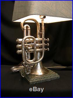Cornet Table Lamp A. Hilleron Paris Vintage Rare & Exceptional