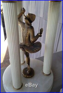 DECO Lamp Harlequin Marble Alabaster Gerdago JB Hirsch Vintage Antique Statue