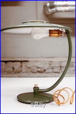 Dazor Mid Century Razor Table Lamp Vintage Flying Saucer Light