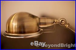Designer Vintage Replica JIELDE OLD GOLD BRASS Table Desk Lamp Light Industrial