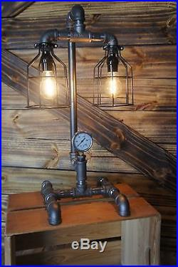Edison Age Industrial Lamp, Steampunk Table Lamp, vintage, antique, Bulb cages