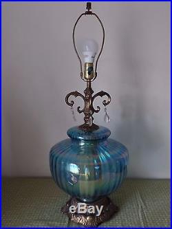 Ef & Ef Industriesblue Vintage Mid-century Retro 1972 Lamp