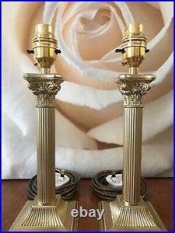 English Antique Corinthian Column Table Lamps PAIR H26cmEXCELLENT