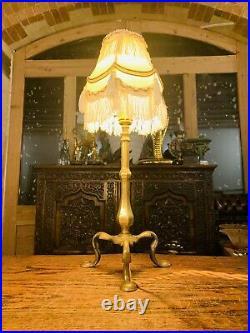 Faraday & Sons Brass Pullman Coach Table Lamp, Edwardian Antique