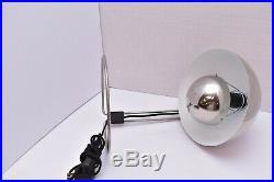 Flowerpot Verner Panton Rare MCM mid century modern Chrome Table Lamp Vtg Light