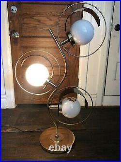 Funky 50s 70s Retro Vintage Lamp 1970 Mid Century Modern MCM Funk Decor