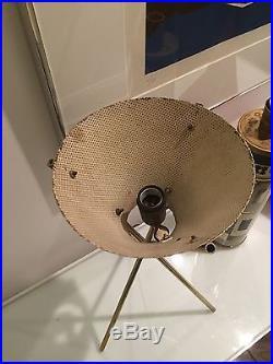 Gerald Thurston Lightolier Eames Era Mid Century Vtg Brass Tripod