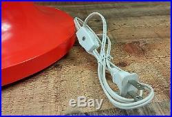Giant Glass Light Bulb Table Lamp Pop Art Orange Mid Century Vtg 60s 70s