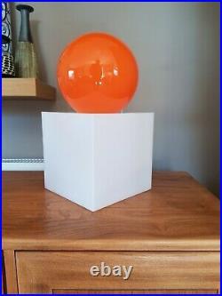 Habitat Louie Orange Lamp Retro Vintage With White Acrylic Light Box/Stand Uniqu