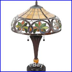 Handcrafted Tiffany Vintage Style Table Base Lamp Stained Cut Glass NEW