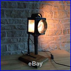 Handmade Vintage Rustic French Antique Table Desk Lamp Light Carriage Unique