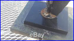 Harry Balmer 1960s Laurel Brutalist Torch Cut Iron Table Lamp Vintage Antique