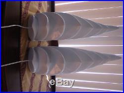 Hollywood Regency Lamp Pair Sculpture Ceramic Wave Vintage Revival Lamps MCM