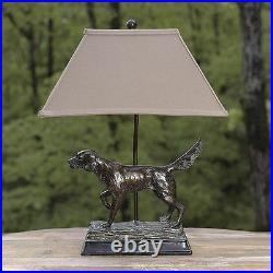 Hunting Dog Lamp English Irish Setter Retriever Rustic Cabin Lodge Decor L7082AZ