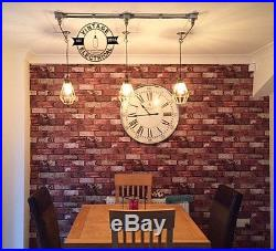Industrial 3 X Cage Hanging Ceiling Table Light Fitting Vintage + E27 Lamps Cafe