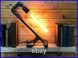 Industrial Table / Desk Lamp, Retro, Steampunk, Unique Edison, Mancave Bedside
