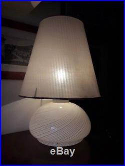 Lampada da tavolo vintage anni 70 vetro di Murano Venini design table glass lamp