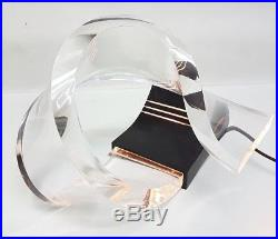 Lampada scultura plexiglass policarbonato vintage anni 70 sculpture table lamp