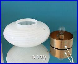 Large lovely mushroom table lamp swirl Murano glass lampada vintage 70s U