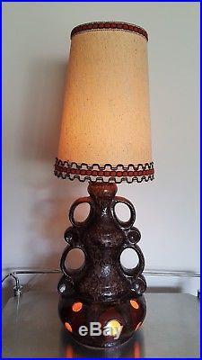 Large retro Vintage German lava floor lamp, Mid century 60s or 70's side lamp