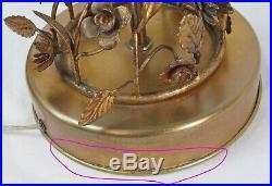 Marbro Italian Tole Gilt Metal Topiary Tree Table Lamp Vintage Hollywood Regency
