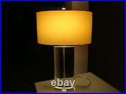 Mid Century Lucite Chrome Table Lamp Hollywood Regency Vintage Thomasville