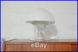 Mid Century Modern Table Lamp Gino Vistosi White Murano Glass Mushroom Vintage