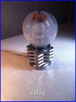 Mid Century Space Age Murano Glass Mazzega Table Lamp 60s Vintage Design light