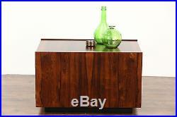 Midcentury Danish Modern 60's Vintage Rosewood Lamp, End or Coffee Table