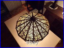 Mission art craft stained slag glass lamp handel tiffany duffner kimberly