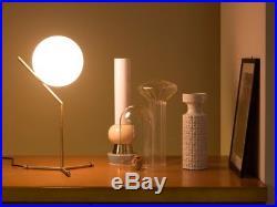 Modern Vintage Industrial FLOS style Minimalist Gold LED Light Globe Table Lamp